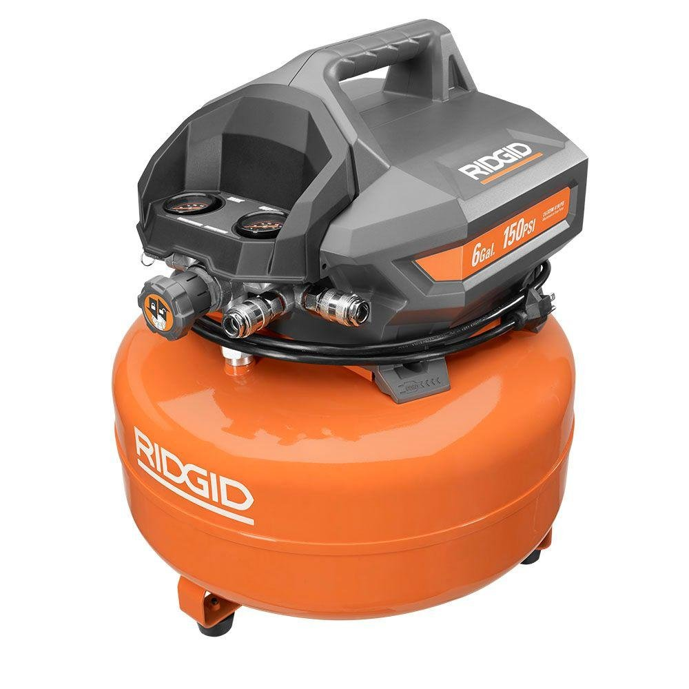 Ridgid 6 Gallon 150 PSI Pancake Compressor