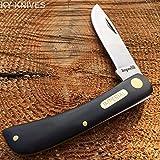 """Imperial Schrade Vintage Black Handles 3 1/2"""" Sodbuster Pocket Knife New! IMP22"""