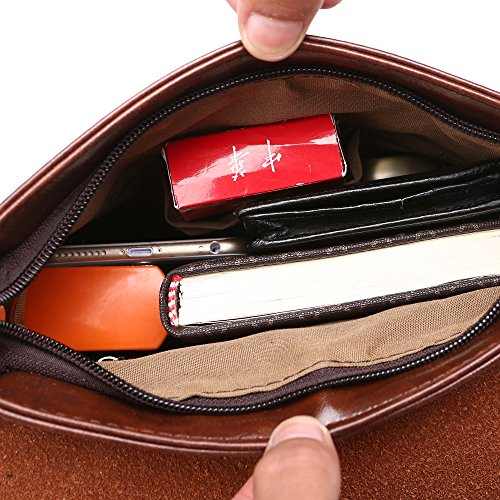 Business Casual Bolsas Crossbody De Bolsos Cuero Satchel Hombro Bag Pu Vintage Escuela Hombres Yisibo Bolsa Wallet Messenger RTFqw6RO