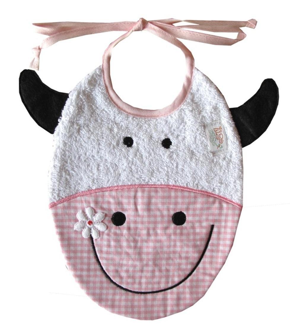 Babero Vaca Color rosa