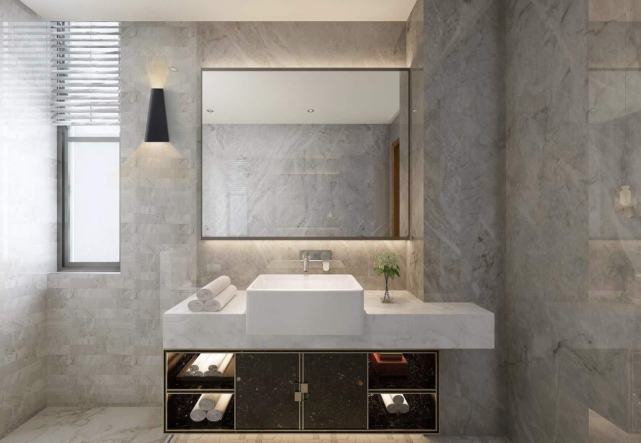 Lylf 10w applique da parete a led da interno nero con design moderno