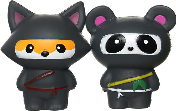 Amazon.com: teegomo Kawaii Ninja Panda y divertido Ninja Fox ...