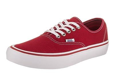 2f3d8d76d7 Amazon.com  Vans Mens Authentic Pro Scarlet White Skate Shoe 8 Men ...