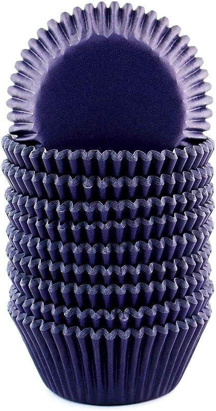 xlloest 200 moldes de papel para magdalenas, diámetro de 5 cm, color azul marino, 200 unidades, diámetro de 5 cm, sin olores, sin veneno, sin tintes