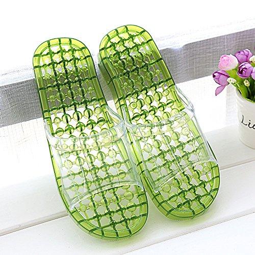 antideslizantes Zapatillas baño con amantes del zapatillas los que Cómodo las Cuarto masaje de femenina Casa de plásti Los las verano cristalinas con A bañan deslizadores deslizadores se frescas gruesos SCOnAEqw