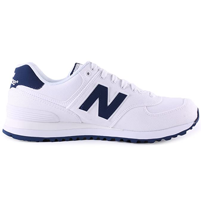 New Balance Schuhe ML 574 white-blue (ML574HRW) 38,5 weiss: Amazon ...