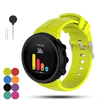 Feskio Correa de repuesto para reloj deportivo Suunto Spartan Ultra/Ultra HR, silicona suave, para reloj inteligente, con herramientas de instalación, ...