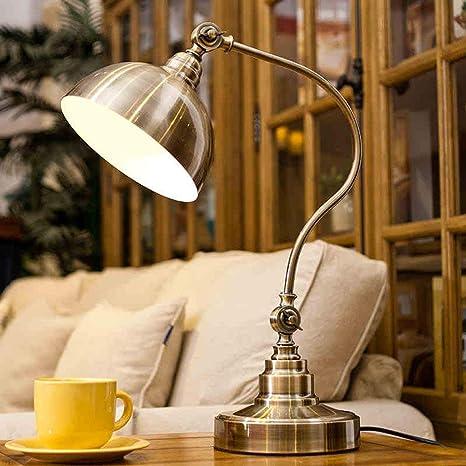 SGWH ㉿ Antiguas lámparas de mesa de bronce American Village ...