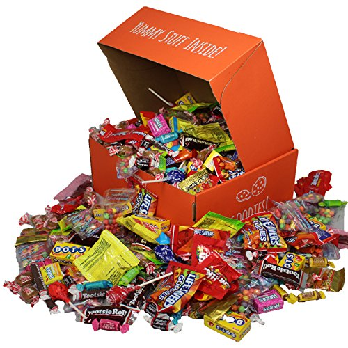 Bulk Assorted Candy, 6.5 LB, Individually Wrapped Candies, Best Party Mix For Birthday, Pinata Candy Gift Box, Includes Skittles, Twizzlers, Starbursts, Swedish Fish, Lollipops, Tootsie Rolls & More!