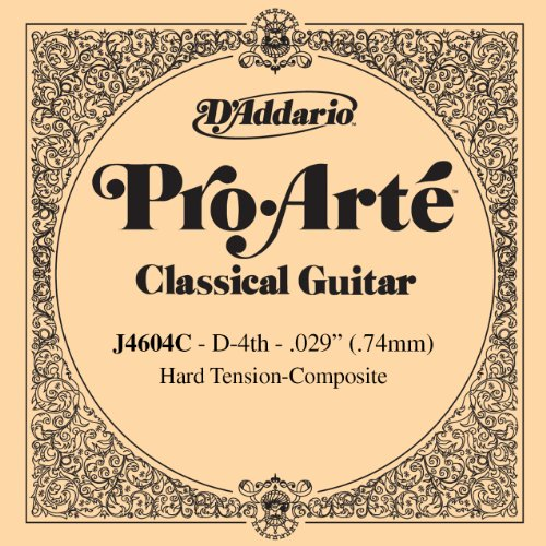 D'Addario J4604C Pro-Arte Nylon Classical Guitar Single String, Hard Tension, Fourth String - Daddario Single Guitar Strings