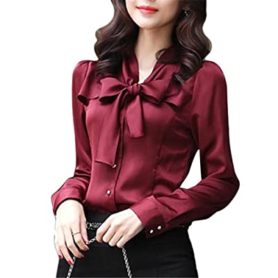 buying cheap hot products where can i buy Chemisier en Satin - Brawdress Femme - Blouse Chic Avec ...