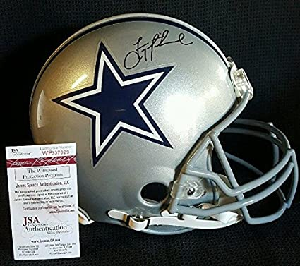d5f0dd8b1 Image Unavailable. Image not available for. Color  Autographed Troy Aikman  Helmet - Full Size WITNESSED - JSA Certified - Autographed NFL Helmets