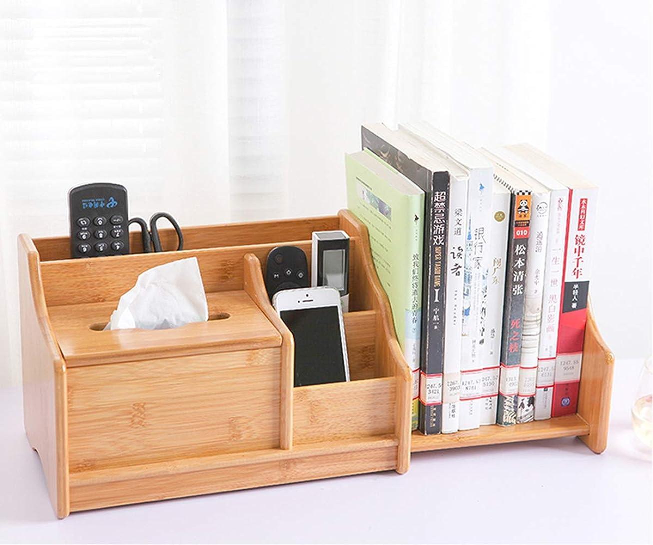 パーフェルビッド土砂降り状Goodraio デスク上 収納 大容量 自由に調整伸縮の本立て 小物入れ 卓上 竹製 卓上収納 オフィス 2段ラック 組み立てが簡単で 日本語説明書が付き