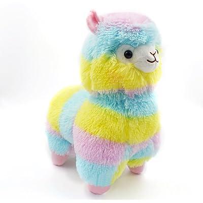 13CM Colorful Kawaii Alpaca Toys Llama Arpakasso Soft Plush Doll Gift Cute Keychain Decor