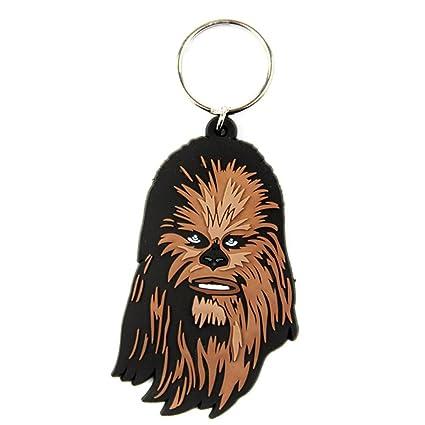 Oficial de Star Wars Chewbacca Wookie de goma llavero ...