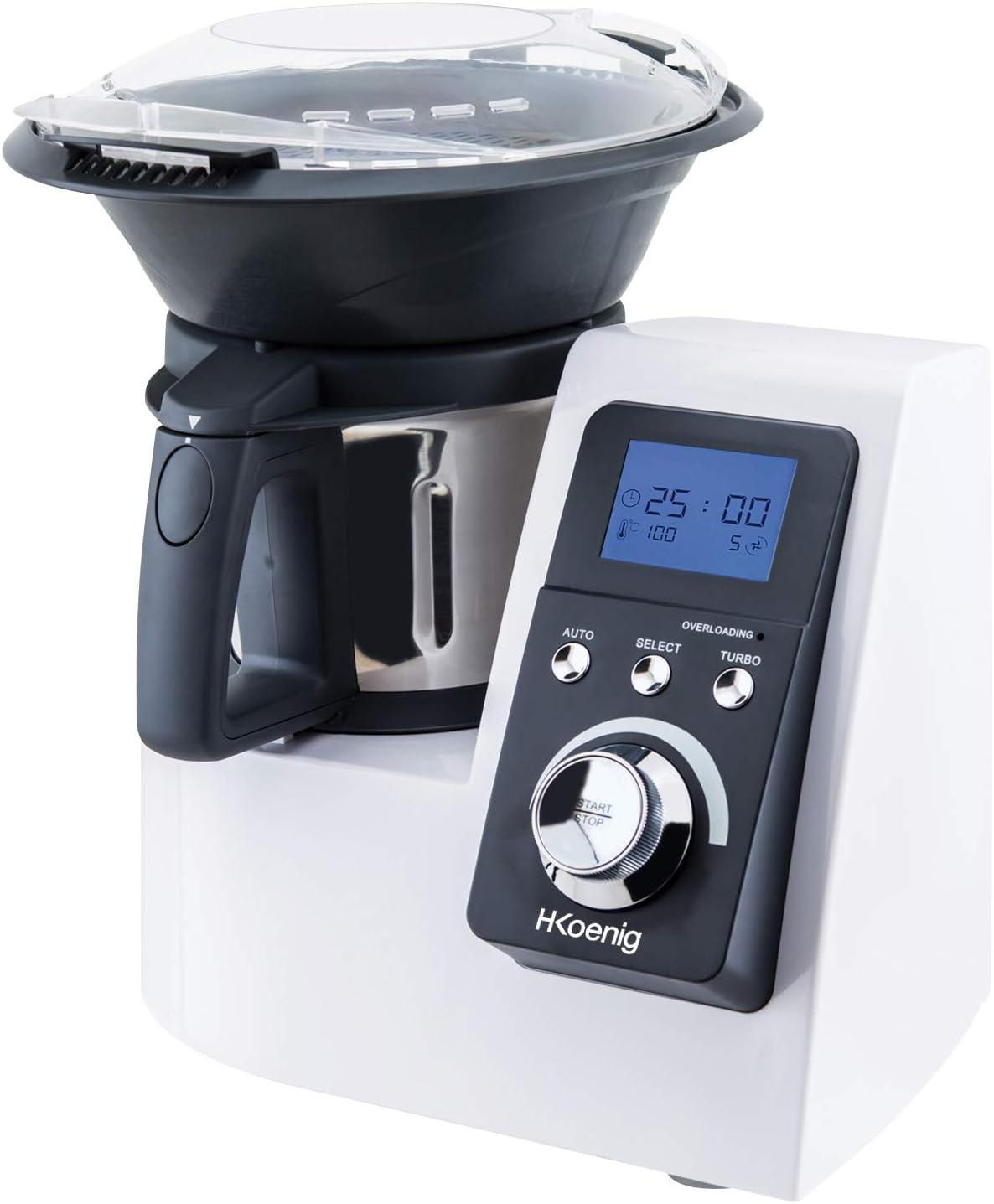 H.Koenig HKM1032 Robot de Cocina, Acero Inoxidable, plástico, Blanco: Amazon.es: Hogar