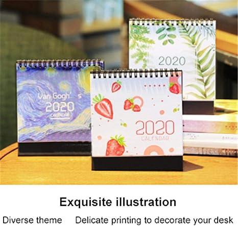 Calendario de escritorio 2020 Calendario elegante de mesa con ...