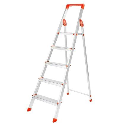 Bathla Prime 5-Step Aluminium Ladder-Orange