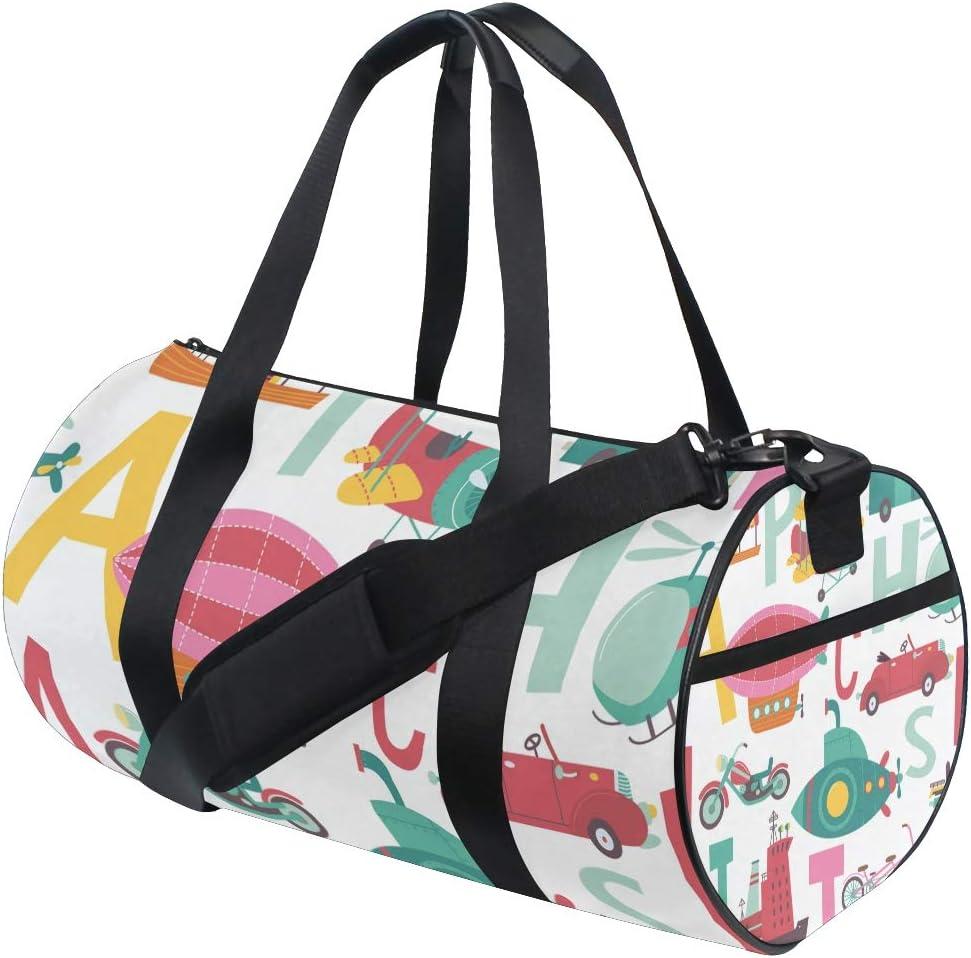 MALPLENA Vehicle Initials Drum gym duffel bag women Travel Bag