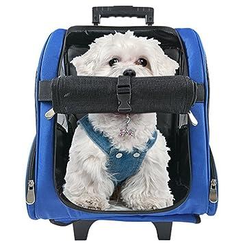 Maletas de viaje con ruedas para mascotas, bolsa de transporte, mochila para perros,