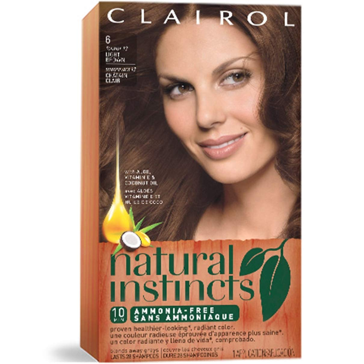 Clairol Natural Instincts Semi-Permanent Hair Color Kit, 13 Suede Light Brown Color, Ammonia Free, Long Lasting for 28 Shampoos, 3 Count, Pack of 3 by Clairol