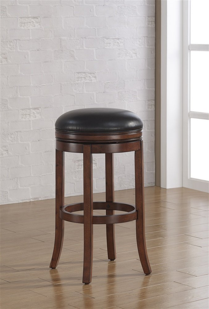 Backless Leather Counter Stools Part - 30: Amazon.com: American Woodcrafters Stella Backless Counter Stool: Kitchen U0026  Dining