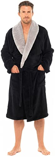 MICHAEL PAUL Men's Luxury Soft Fleece Dressing Gown