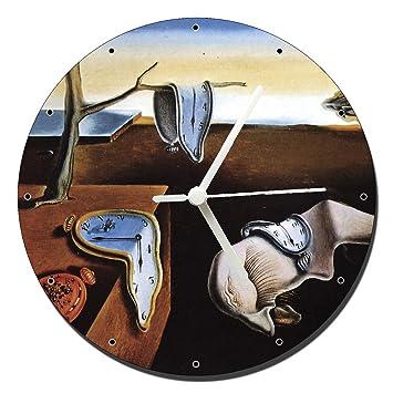 MasTazas Dali La Persistencia De La Memoria The Persistence of Memory Reloj de Pared Wall Clock 20cm: Amazon.es: Hogar