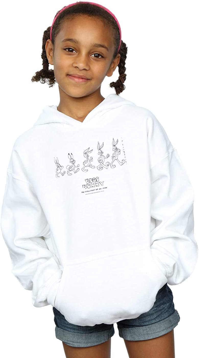 Absolute Cult Looney Tunes Girls Bugs Bunny Evolution Hoodie