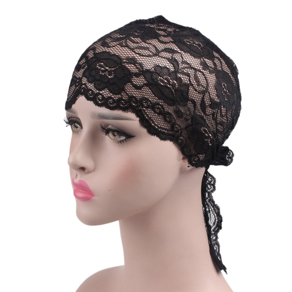 COMVIP Women\'s Lace Floral Turbans Cancer Hats Chemo Cap Beanie COMVIP18327CY277