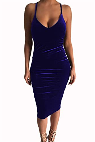 Womens Sexy Strap Backless Crossover Bodycon Party Club Mini Dress Evening Dress