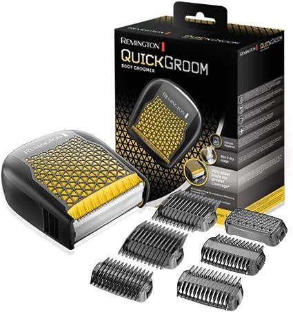 Remington Quickgroom BHT6450 Afeitadora Corporal, Cuchillas Anchas, Inalámbrica, Uso Seco y Mojado, Negro y Amarillo: Amazon.es: Salud y cuidado personal