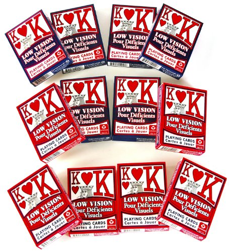 Low Vision _ Super Big Numbers Playing Cards _ Bundle of 12 Decks