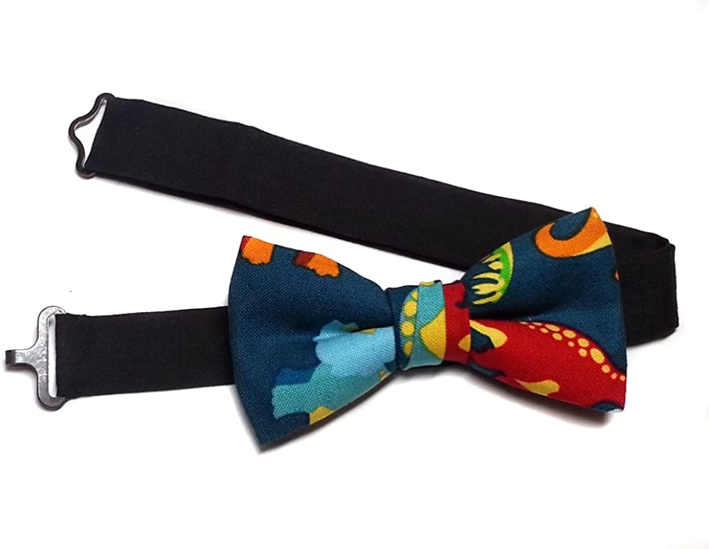 EmilyRose Couture Kid's Prints Bow Ties-Newborn to Teen-Dinosaur