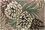 Homefires Accents Pine Cone Indoor Rug, 22-Inch by 34-Inch