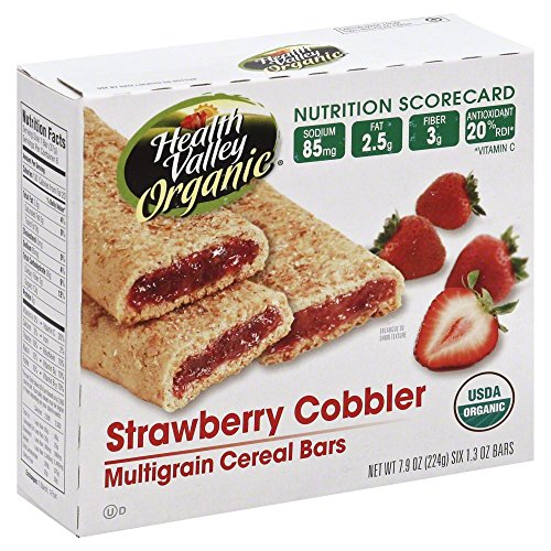 Health Valley Bars Cereal Strawberry Cobbler 7.9 OZ(Pack of 3)