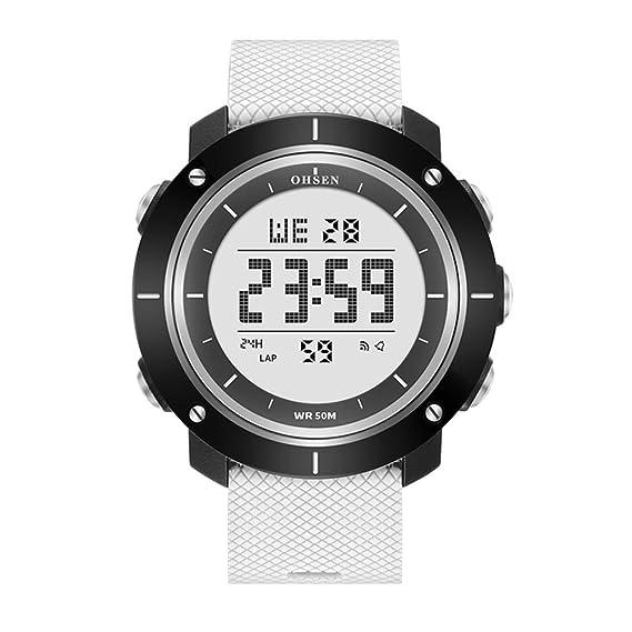 jóvenes ver/Moda luminoso al aire libre escalada deportiva multifuncionales relojes electrónicos-blanco