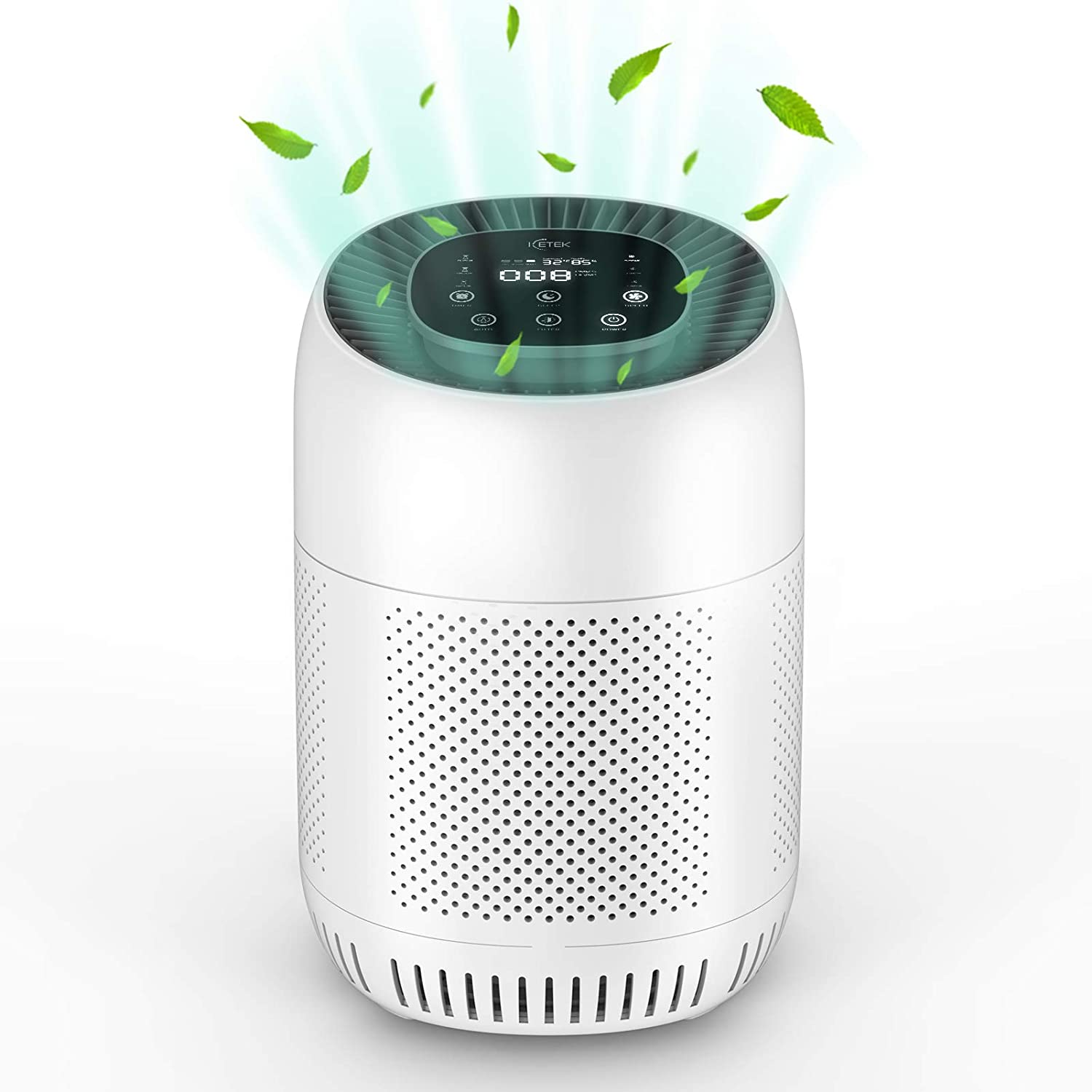 HEPA Air Purifiers for Home,ICETEK True H13 Personal Air Purifier With 4 Stage Filtration and Activated Carbon Filter Removes 99.97% of Smoke,Dust Odor,Pollen for Bedroom, Living Room,Office 215 Sq.ft