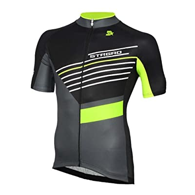 STRGAO Hommes Breathable Cycling Manches Courtes Cycling Jersey Vêtements Sports et Loisirs Maillot de Cyclisme Manches Courtes 2XL