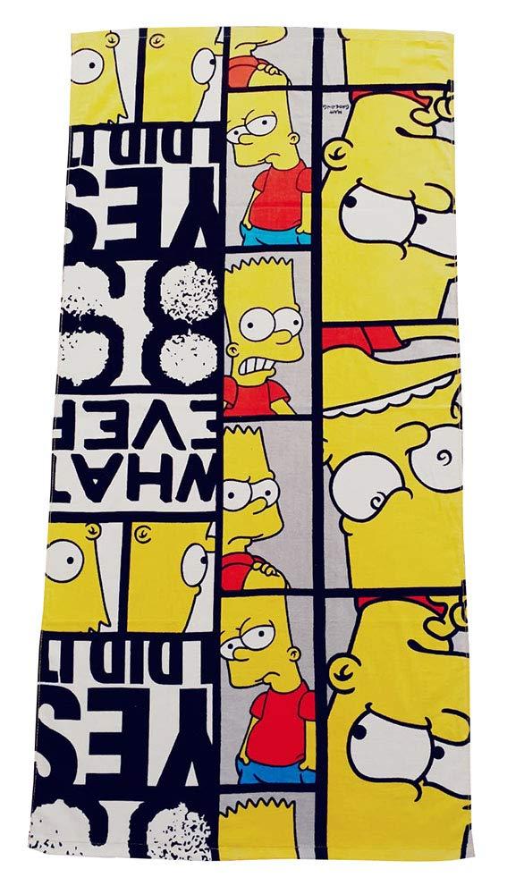 The Simpsons Bart 89 Yes I did it Serviette de Bain 100/% Coton pour Enfant Certifi/é /Öko-Tex Standard 100