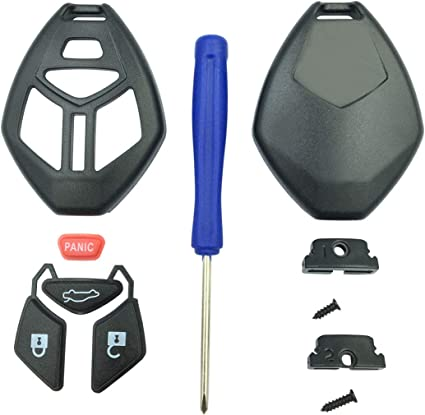 Remote Key Fob Shell Case Replacement 4 Buttons For Mitsubishi Eclipse Lancer