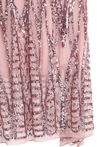 Angel-fashions Women's Notched Strapless Paillette Column Sheath Prom Dress XXLarge by Angel-fashions (Image #4)