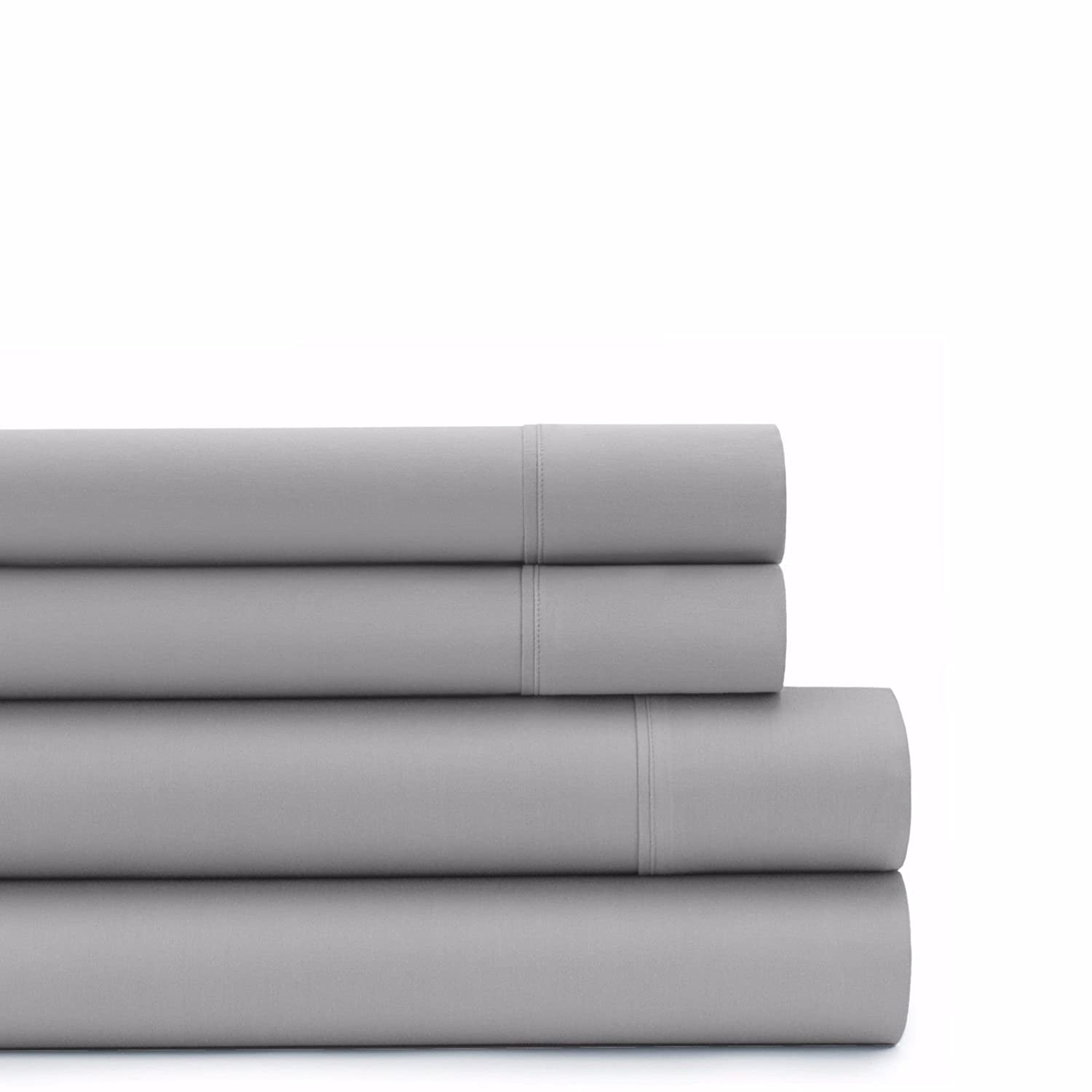 White Solid Size full By Soft/&Rich Authentic Egyptian cotton Sheet Set fits mattresses up to 19 deep 1000 TC Color