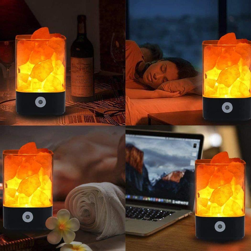 Bluefringe Night Light M2 Himalayan Crystal Salt Lamp Natural Negative Ion USB Charging Creative Gift by Bluefringe (Image #8)