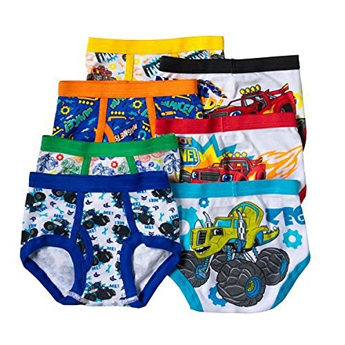 Blaze and the Monster Machines Toddler Boys 7 Pack Underwear Briefs, Multi, 2T/3T