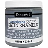 Decoart DECADSA-36.20 Decor Satin Enamels Smokgrey Americana Decor Satin Enamels 8oz Smokgrey