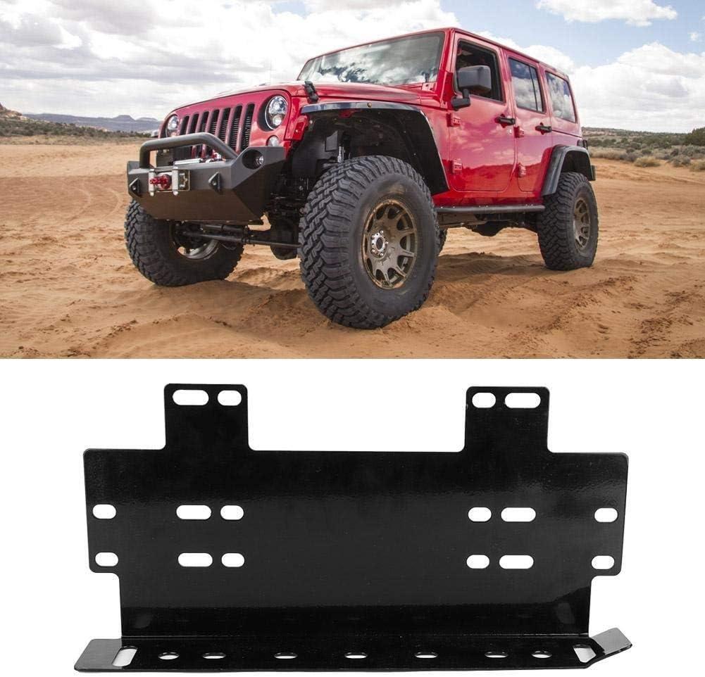 noir 1PC Support de fixation de plaque dimmatriculation de pare-chocs avant for voiture tout-terrain barre de guidage LED