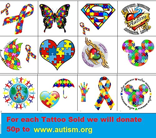 Autism Awareness Collection (Autism Temporary Tattoos) -