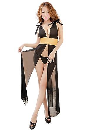Shangrui Mujer Abrir Tenedor Fregar el Piso de la Falda ...