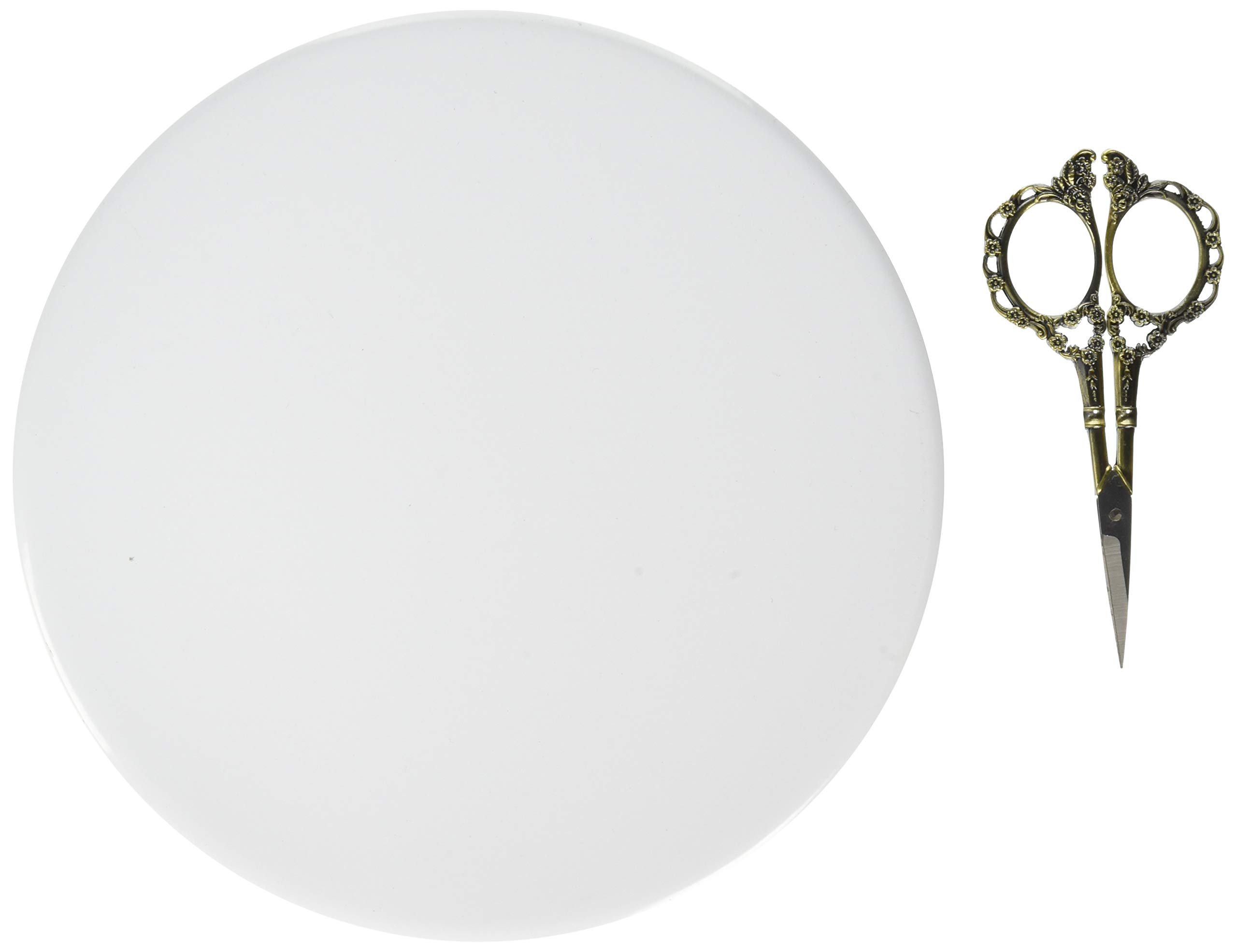 Garvin CBC-800 Recessed Blank-Up Cover Plate, 8-Inch Diameter, Steel, White